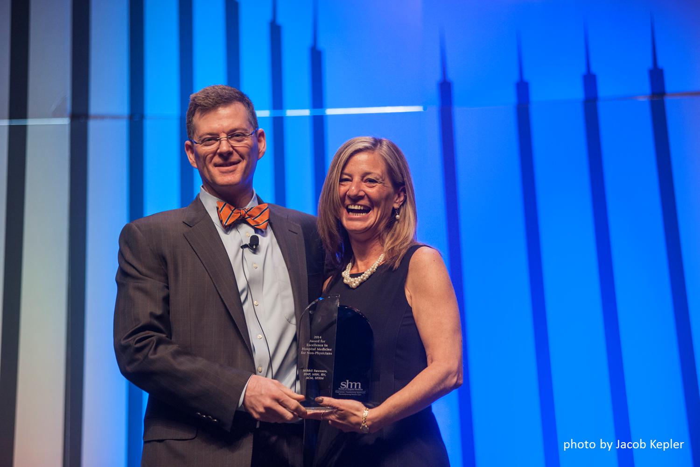 Mikkii Swanson Receiving Non-physician Award