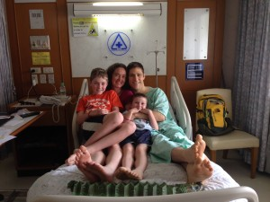Family Time at the hospital.