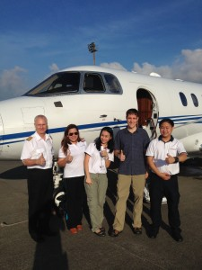 The Air Ambulance ride home – never have had my own private jet before. The team was great, but it wasn't worth the trouble that led up to it!