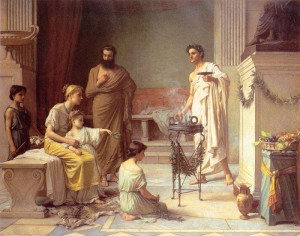 From http://www.johnwilliamwaterhouse.com/pictures/sick-child-aesculapius/