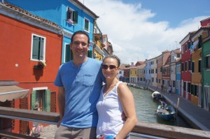 My wife, Stephanie, and I enjoying Burano. No plague around.